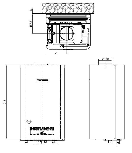 Размеры котла Navien ATMO